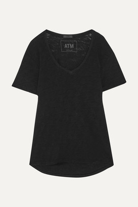 ATM Anthony Thomas Melillo Boyfriend Slub Cotton-jersey T-shirt - Black