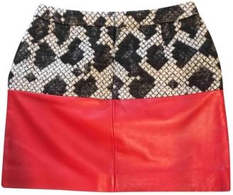 Balenciaga Red Wool Skirt for Women