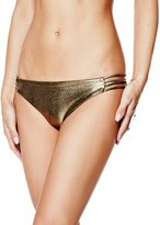 GUESS Metallic Multi-Strap Bikini Bottoms