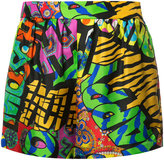 Moschino psychedelic printed shorts - women - Silk - 38