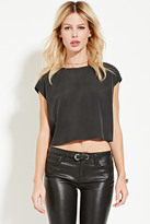 Forever 21 FOREVER 21+ Contemporary Boxy Cap-Sleeved Top