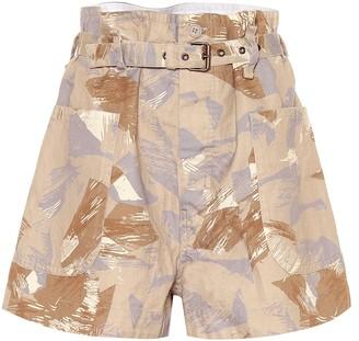 Isabel Marant Exclusive to Mytheresa Iliany camouflage cotton-blend shorts