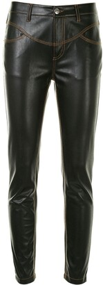 Ermanno Scervino Faux-Leather Skinny Trousers