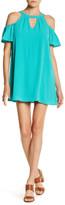 As U Wish Cold Shoulder Mini Dress