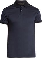 Ermenegildo Zegna Diamond-print short-sleeved cotton polo shirt