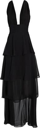retrofete Eloise Ruffled Silk Gown