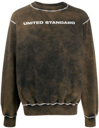 United Standard Acid Wash Logo Print Jumper