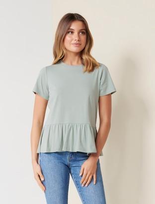Forever New Joanne Smock T-Shirt - Sage Green - l