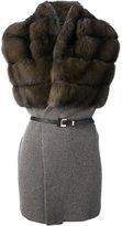 Liska sable section sleeveless cardigan