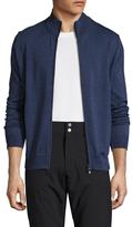Toscano Wool Zip Front Sweater