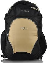 Obersee Oslo Diaper Bag Backpack with Detachable Cooler in Black/Sand