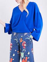 Diane von Furstenberg Wrap silk-crepe blouse