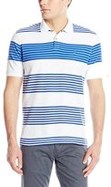 Izod Men's Short Sleeve Advantage Awning Stripe Polo