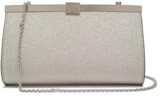 Christian Louboutin Palmette Glittered-leather Clutch Bag - Womens - White Multi