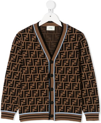 Fendi monogram pattern cardigan
