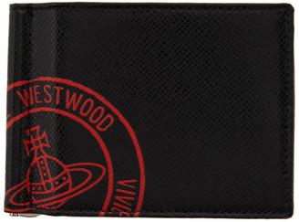 Vivienne Westwood Black and Red Kent Money Clip Bifold Wallet