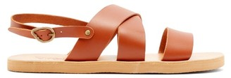 Ancient Greek Sandals Miltos Crossover Leather Sandals - Mens - Tan