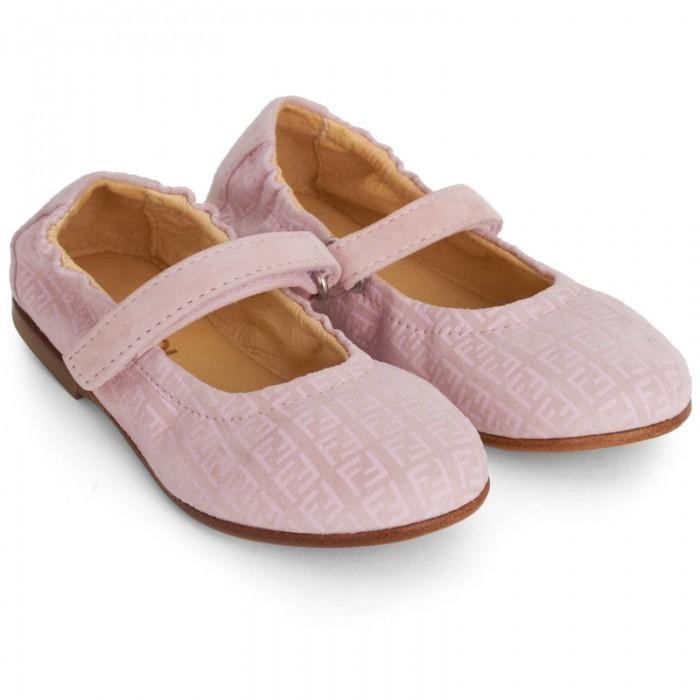 Fendi Pink Velcro Mary Janes