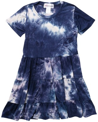 Cotton Emporium Short Sleeve Tiered Jersey Dress (Big Girls)