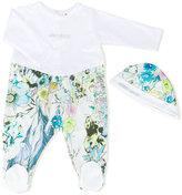 Roberto Cavalli printed babygrow and hat set - kids - Cotton/Spandex/Elastane - 6 mth