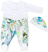 Roberto Cavalli printed babygrow and hat set