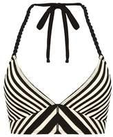 Robin Piccone Carmen Stripe Halter Bikini Top