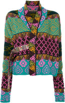 Etro embroidered concealed placket cardigan