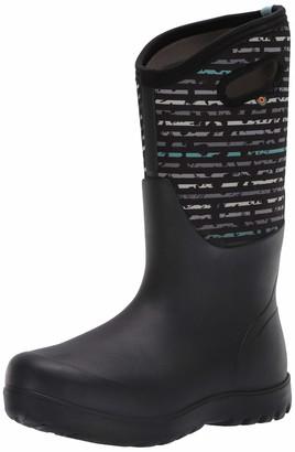 Bogs Women's Neo-Classic Tall Spot Stripes Waterproof Rain Boot