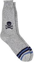 Corgi Men's Skull-Print Crew Socks-NAVY