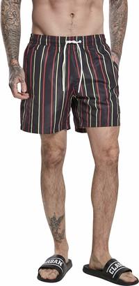 Urban Classics Men's Stripe Swim Shorts Trunks