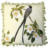 Petit Point Hkh International Bird and Magnolia Pillow