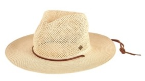 San Diego Hat Company San Diego Hat Men's Open Weave Crown with Chin Cord