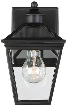 "Savoy House Ellijay Outdoor Wall-Mount Lantern, Black, 9.5"""