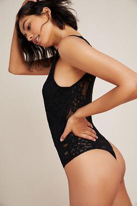 Eri + Ali Brooke Lace Bodysuit By in Black Size XS