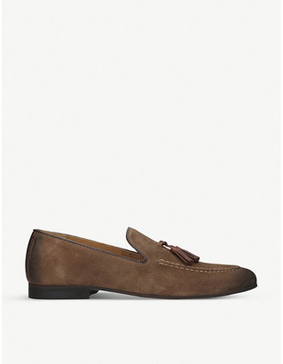 Selfridges Naples suede loafers