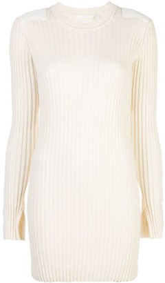 Helmut Lang Ribbed Knitted Dress