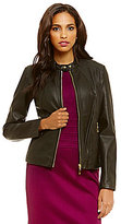 Ivanka Trump Faux Leather Moto Jacket