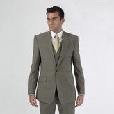 Stvdio By Jeff Banks Taupe Mohair Look 1 Button Suit Jacket