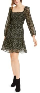 Sam Edelman Long-Sleeve Ditsy-Floral Dress