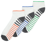 George 5 Pack Striped Sport Socks