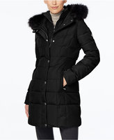 Calvin Klein Faux-Fur-Trim Water-Resistant Down Puffer Coat