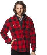 Chaps Big & Tall Classic-Fit Plaid Microfleece Shirt Jacket