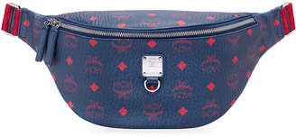 MCM Men's Fursten Visetos Coated Canvas Belt Bag