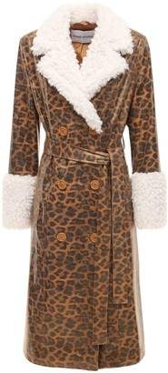 Stand Studio Genesis Printed Faux Leather Coat
