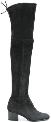 Baldinini Thigh High Mid Heel Boots