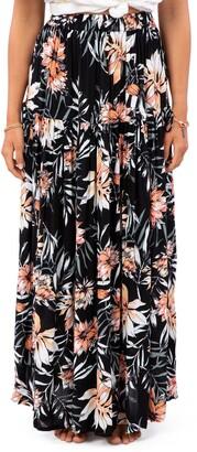 Rip Curl Playa Blanca Floral Maxi Skirt