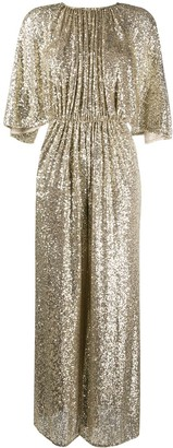 Pinko flared sleeve sequin jumpsuit