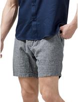 Selected Homme Kasper Cotton Linen Tapered Shorts, Dark Sapphire