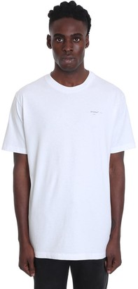 Off-White Arrow Logo T-shirt In White Cotton