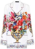 Dolce & Gabbana Floral-printed silk shirt